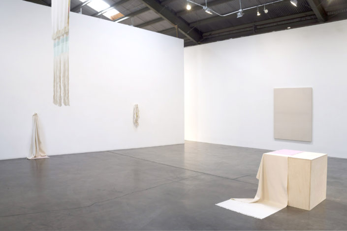 Frances Trombly, Installation View, Material and Its Making, 2017, Shoshana Wayne Gallery
