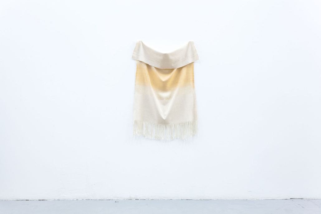 Frances Trombly. Orange with Canvas, 2013.