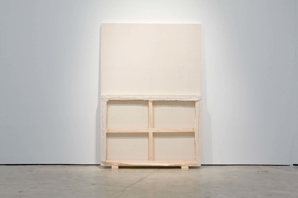 Frances Trombly, Face to Face, 2010. Handwoven canvas, wood, 2 x 14 x14 inches.
