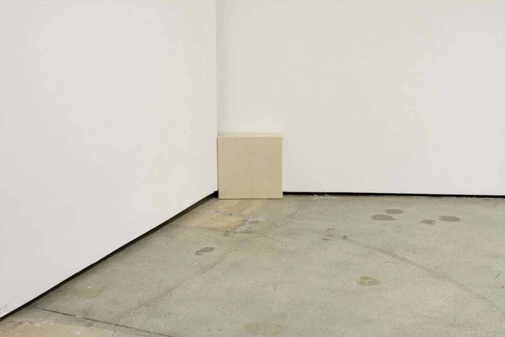 Frances Trombly, Hidden Canvas, 2010 Handwoven canvas, wood, 10 x 10 x 2 inches
