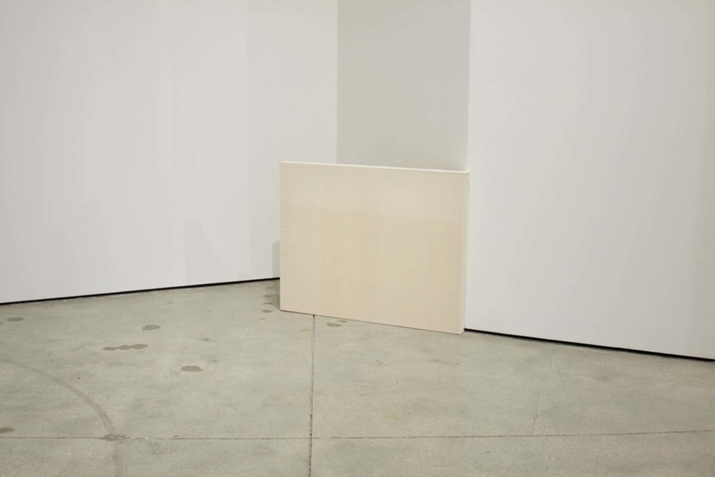 Frances Trombly, Resting, 2010, Handwoven canvas, wood, 28 x 36 x 2 inches.