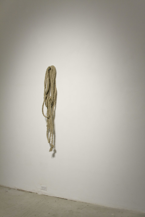 Frances Trombly, Rope, 2009, Handmade with twine, Dimensions Variable.