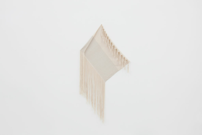 Frances Trombly, Linen with Canvas, 2013, Handwoven linen and cotton, 72 X 37 1/2 inches